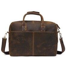 Genuine Leather Men's Shoulder Bag 15 Inch Laptop Bag Business Briefcase Men Handbag Cross Body Satchel Male Travel Casual Totes недорого