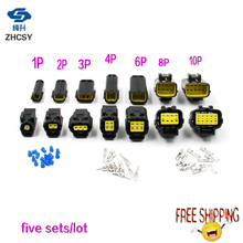Free shipping 5 set 1/2/3/4/6/8/10/12 Pin Way Waterproof Wire Connector Plug Car Auto Sealed Electrical Set Truck connectors