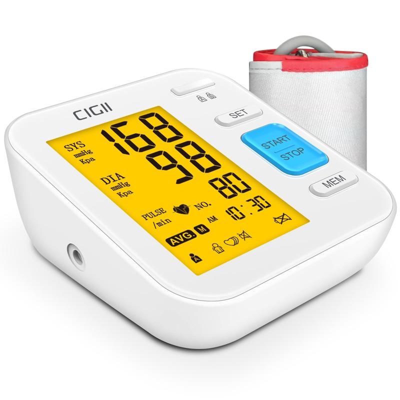 CIGII Blood Pressure Monitor Accurate Automatic Upper Arm Bp Machine & Pulse Rate Monitoring Meter With Cuff 22-40cm, 120 Se