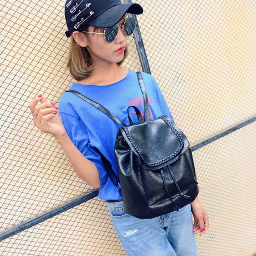 Maison рюкзаки высокого качества кожа Мода девушка путешествия рюкзак строка молния плеч ...