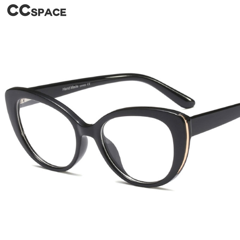 45677 Metal Cat Eye Glasses Frames Women Leopard Optical Fashion Computer Glasses