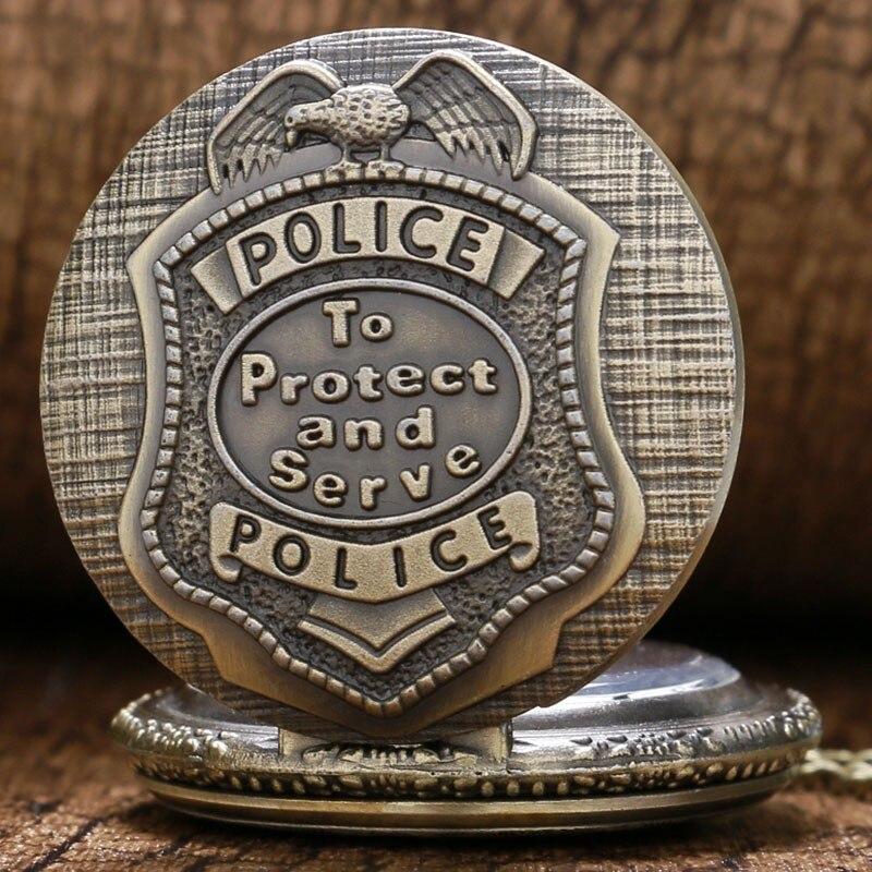 Ρετρό Χάλκινο POLICE χαλαζία ρολόι - Ρολόι τσέπης - Φωτογραφία 5