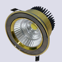 20pcs Super Bright Dimmable Led Downlight COB Ceiling 10w 15w 20w Ceiling Recessed Lights Warm Cool