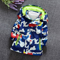 Free delivery Autumn and winter baby child 1 3 2 baby 4 male child outerwear outdoor jacket with a hood plus velvet thickening