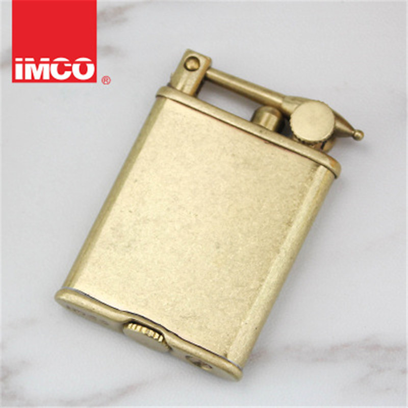 Original IMCO Lighter Retro Gasoline Kerosene Lighter Genuine Ultra Thin Cigarette Lighter Cigar Fire Briquet Petrol Lighters-in Cigarette Accessories from Home & Garden