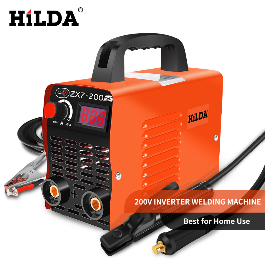 HILDA Arc Welders DC Inverter ARC Welder 220V Welding Machine 200Amp for Home Beginner Lightweight EfficientHILDA Arc Welders DC Inverter ARC Welder 220V Welding Machine 200Amp for Home Beginner Lightweight Efficient
