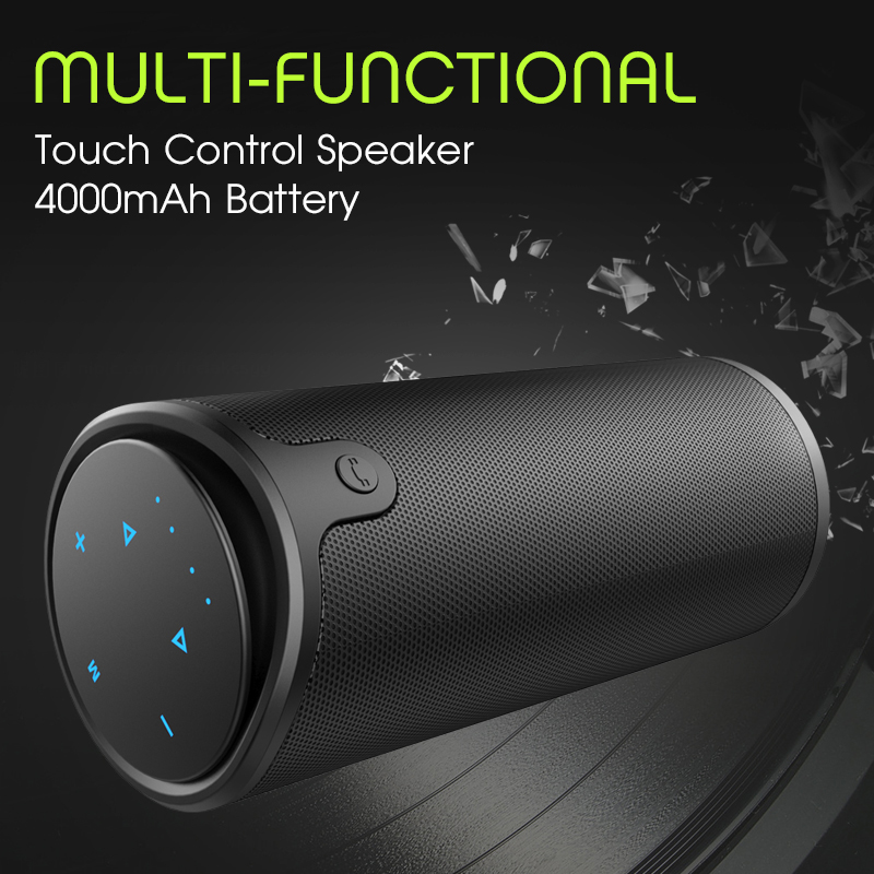 Zealot S8 Portable Wireless Bluetooth Altoparlant Kontrollues Touch Sport Biçikletë HiFi Stereo Car Column Subwoofer Mbështetje TF Card AUX