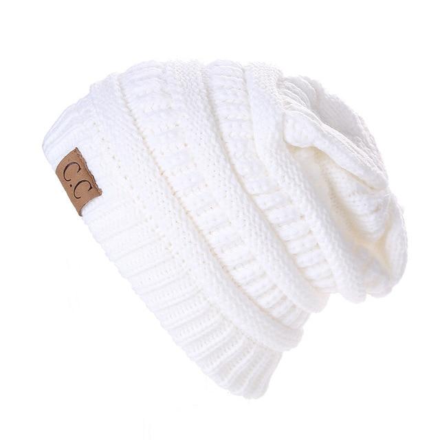 2016 вязаная шапка Мужчины Чашки осенне-Зимние Мужчин И женщины CC Вертикальная Полосатый Вязать Шляпу Открытый Утолщение Твердых Лыжные Cap