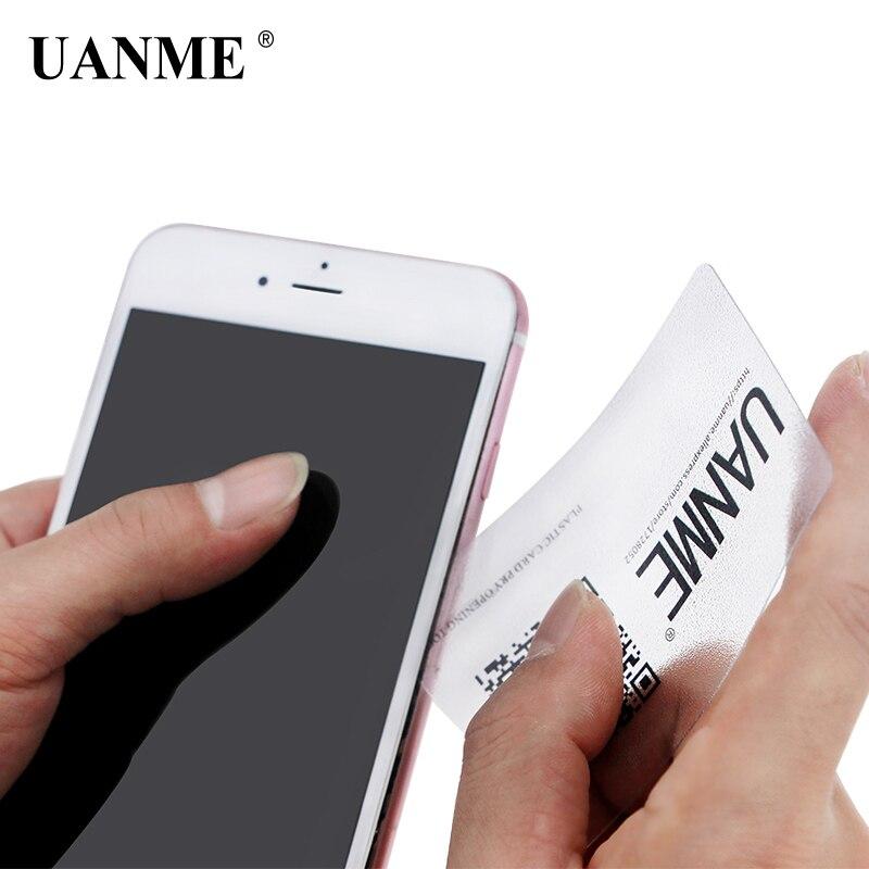 Купить с кэшбэком UANME 10 85*54mm Handy Plastic Card For iPhone iPad Tablet Pry Opening Scraper For Mobile Phone Glued Screen Repair Tool