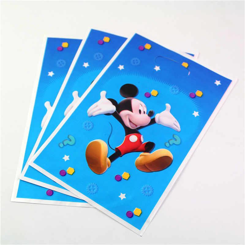 Mickey Mouse Theme Cartoon Gift Bag 10pcs Lot Birthday Loot Kids Favor Happy