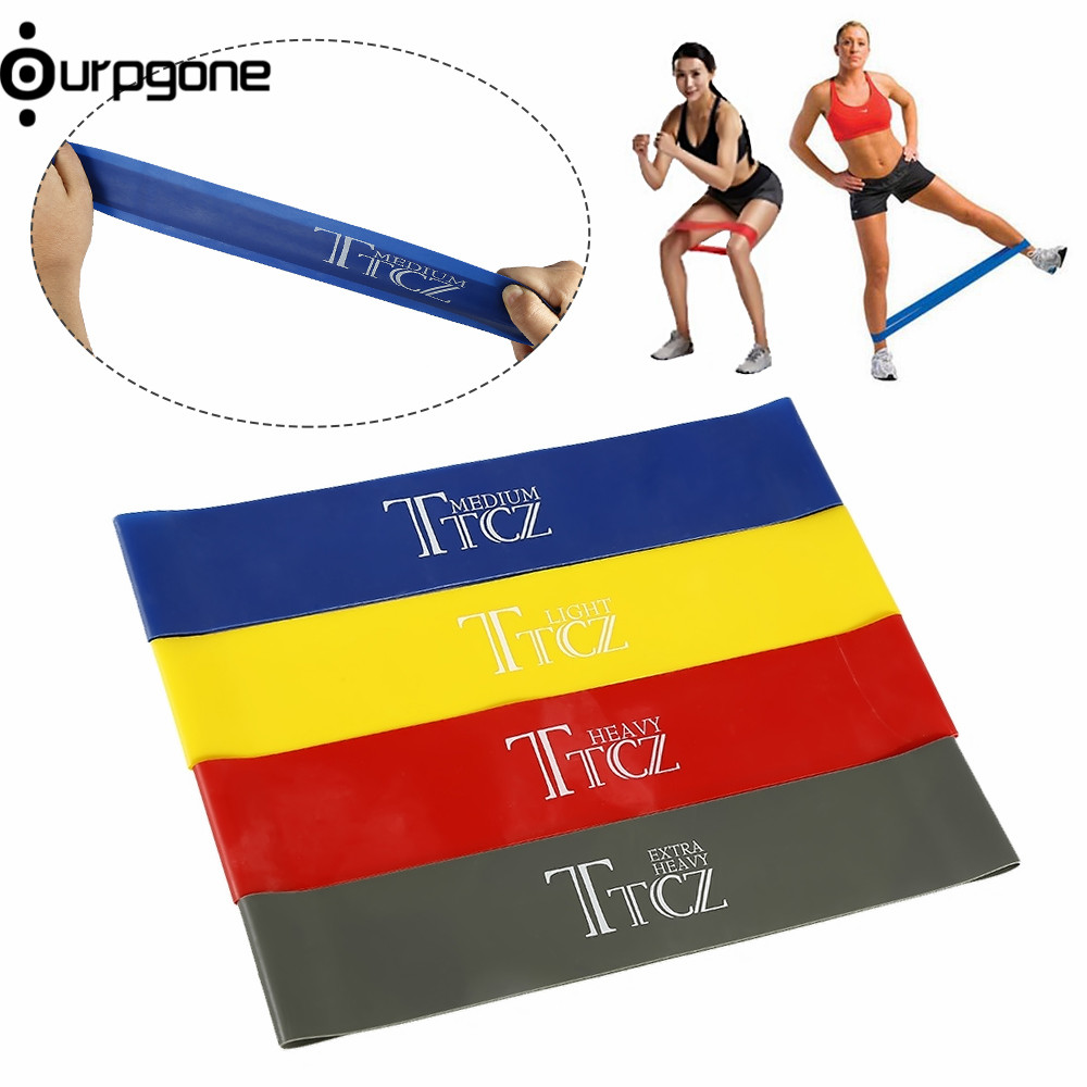 1pc Elastic Band Tension Resistance Band Exercise Workout Loop Crossfit Strength Pilates Training Expander Fitness Equipment