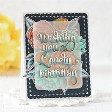 GJCrafts Birthday Letter Word Dies Metal Cutting for Scrapbooking DIY Album Card Making Decor Paper Craft New 2019