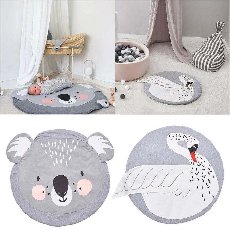 New Fashion Kidlove Cute Baby Infant Crawling Activity Pad Round Kids Crawling Carpet Rabbit Blanket Cotton Game Pad Children Room Decor Mother & Kids