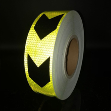 5cmx50m Reflective Safety Stickers Night Driving Waterproof Wide Warning Tape car Accessories