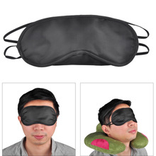100pcs Travel Rest Sponge Eye Mask Black Sleeping Eye Mask Cover For Health Care To Shield The Light Eyeshade Relieve Fatigue