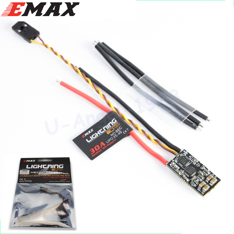 EMAX BLHeli For lightning 30A ESC RC ESC Micro Mini Electronic Speed Controller Only 5g for Racing Drone RC Multicopter xrotor micro blheli 30a 2 4s esc electronic speed controller for hobbywing original rc helicopter accessories