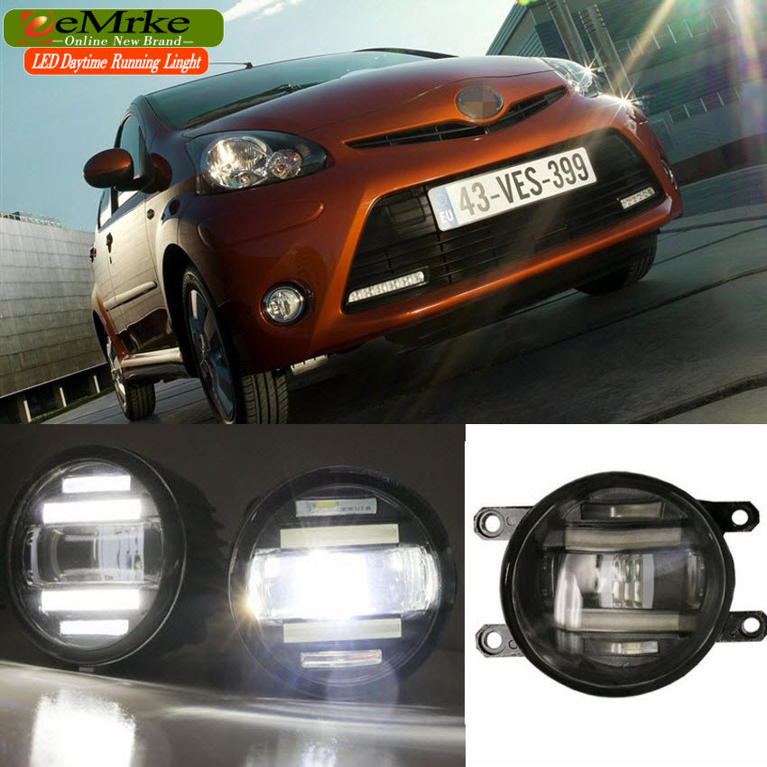 eeMrke Xenon White High Power 2in1 LED DRL Projector Fog Lamp With Lens For Toyota Aygo 2012 2013 2014 bigbang 2012 bigbang live concert alive tour in seoul release date 2013 01 10 kpop