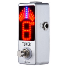 Mini Chromatic Tuner Pedal Effect Guitar Pedal Tuner LED Display True Bypass for Guitar Bass Guitar Parts & Accessories(China)