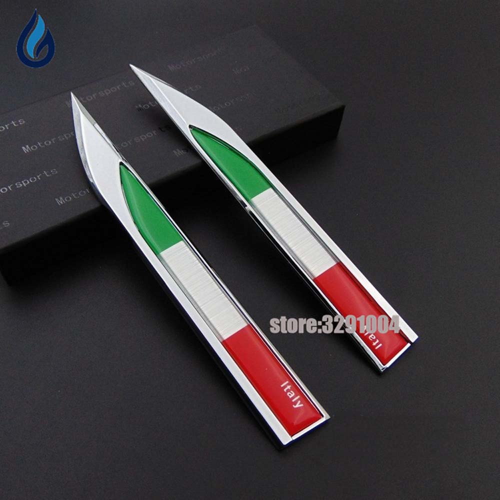 Italy Flag Logo Car Decoration Decal Side Door Sticker For Fiat Panda Punto 500 Lancia Ypsilon Renault Clio Vw Golf Ford Fiesta for fiat punto fiat 500 stilo panda small hole ventilate wear resistance pu leather front