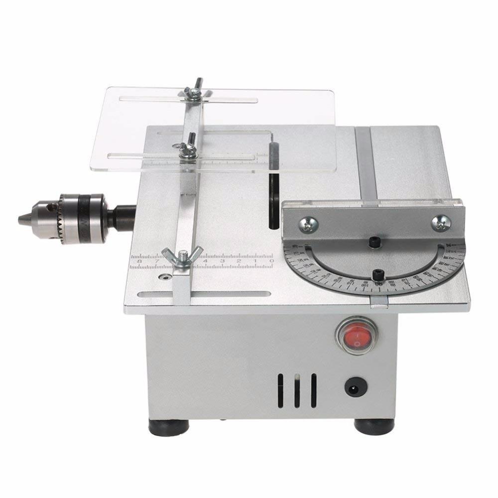 Mini Table Saw Portable DIY Wood Cutting Machine Desktop Buddha Beads Polish Machine Metal Acrylic Cutter