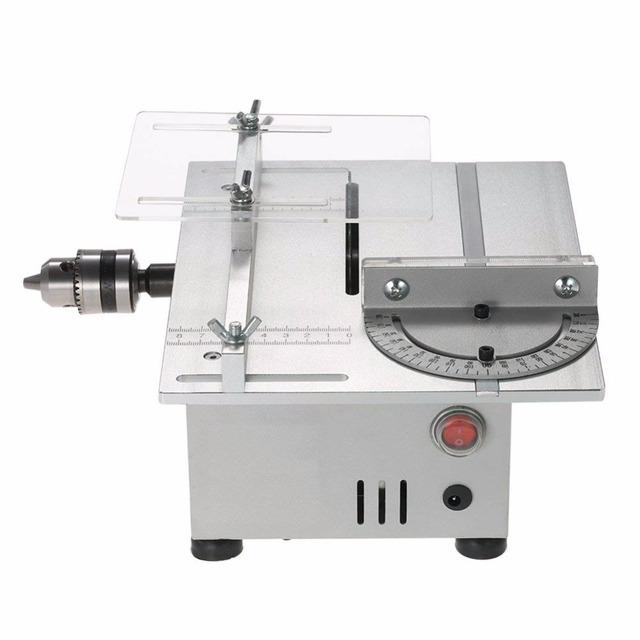 Mini Table Saw Portable DIY Wood Cutting Machine Desktop Buddha Beads Polish Machine Metal/Acrylic Cutter 220V EU Plug