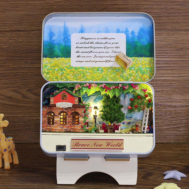 Elegant Box Secret DIY Doll House Miniatura With Furniture Bunny Bracket Creative Theme Design Kids Brave New World Gift T008 #D image