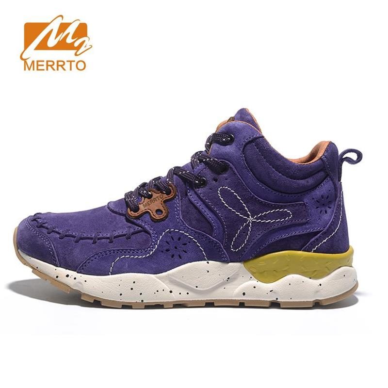 MERRTO Women's Winter & Fall Leather Outdoor Trekking Hiking Boots Shoes Sneakers For Women Sport Climbing Mountain Shoes Woman women genuine leather outdoor hiking shoes women sport travel camping walking shoes trekking hiking sneakers women plus big size