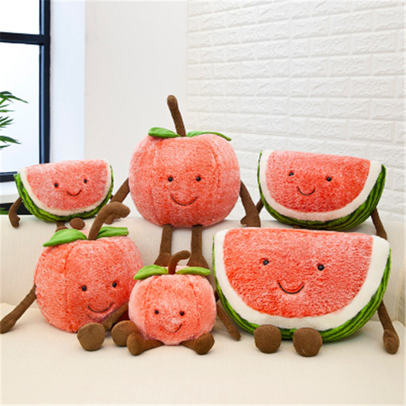 Permalink to Creative Fruit Shape Stuffed Plush Cute Toys Creative Watermelon Cherry Plants Stuffed Pillow Soft Popular Toys For Children