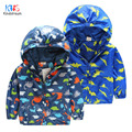Kindstraum 2017 Kids Cartoon Dinosaur Bomber Coats 2-10Y Children  Spring & Autumn Outerwear Hooded Casual Jacket for Baby,RC883