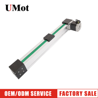 Free Shipping 100mm 3000mm stroke 0.1mm accurancy cnc belt drive linear guide slide rail actuator with stepper motor