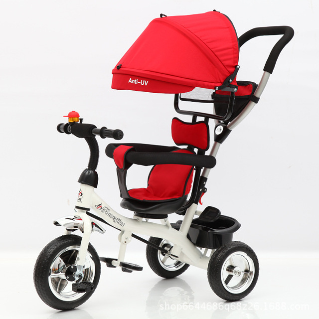 New Child Tricycle 1 6 Baby Stroller Bike Pneumatic Wheels In Three