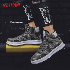 Image 5 - Fashion High Top Camo Casual Shoes Men Respirant Denim Sneakers Krasovki Chaussure Homme Tenis Masculino Adulto Male Footwear