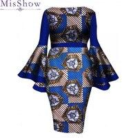 2019 Autumn Vestidos Party Dresses Large Size Dress Women Plus Size 4XL 5XL 6XL long Flare Sleeve Dress Formal Pencil Dresses