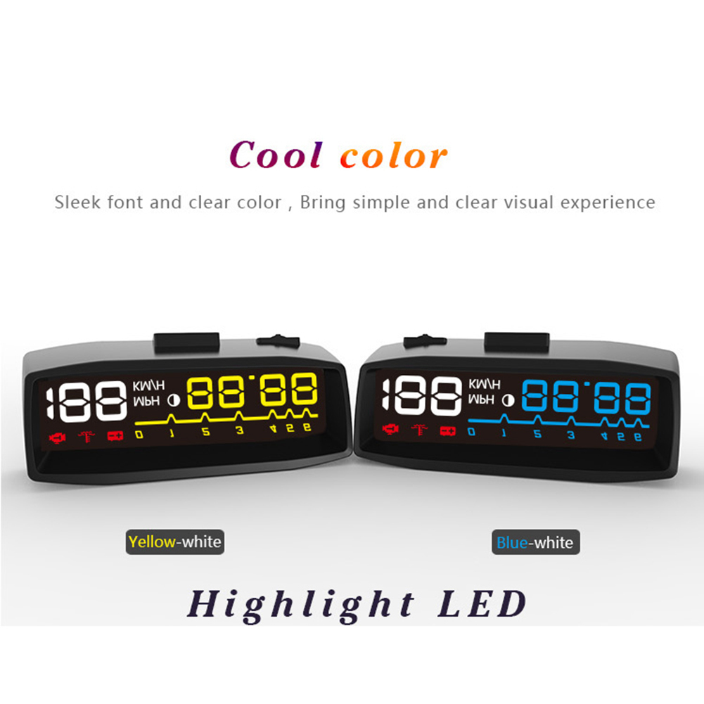 Newest ActiSafety 4F Hud Car Head Up Display Manual Switch OBDII KM H MPH Overspeed Warning