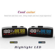 Newest ActiSafety 4F Hud Car head-up display Manual Switch OBDII KM/h MPH Overspeed Warning Windshield Projector Alarm System