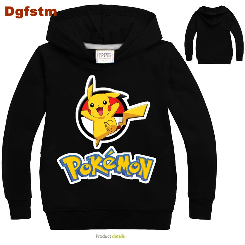 DGFSTM Baby Boys Clothes 2017 Toddler Boys T Shirts for Kids Pokemon Sweatshirt Boys Cartoon Blouse for Girls Birthday Boy Shirt