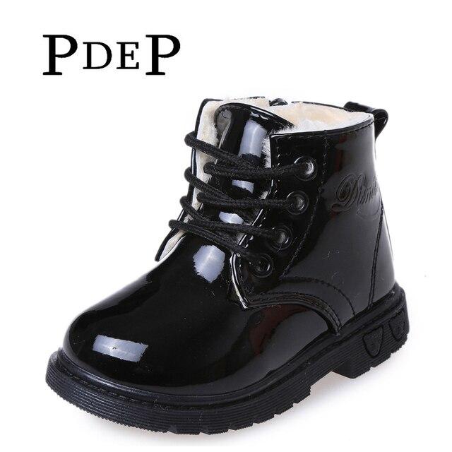 Enfants garçons filles Rétro Bottes Haute Cheville Chaussures de Neige Brun 25 j1TnOTFdM