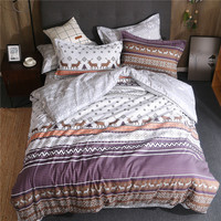 Bohemia Boho style Luxury Good quality Bedding sets Queen King size Quilt/Duvet cover Bedsheet set Pillowcase deer bedclothes