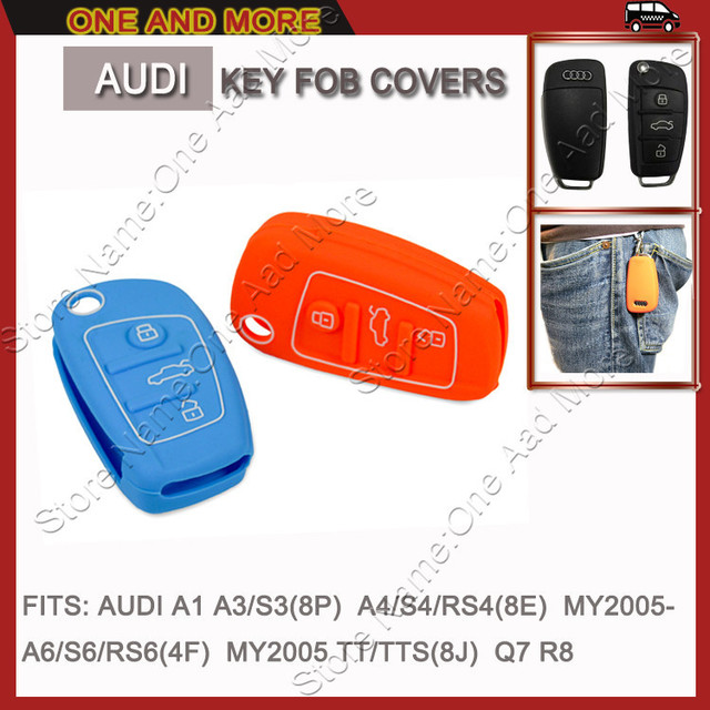 5 Colors Silicone Rubber Smart Key Fob Cover Protector For audi a2,a3,a4,a6,tt,r8,Remote Control Key Case Transmitter Shell