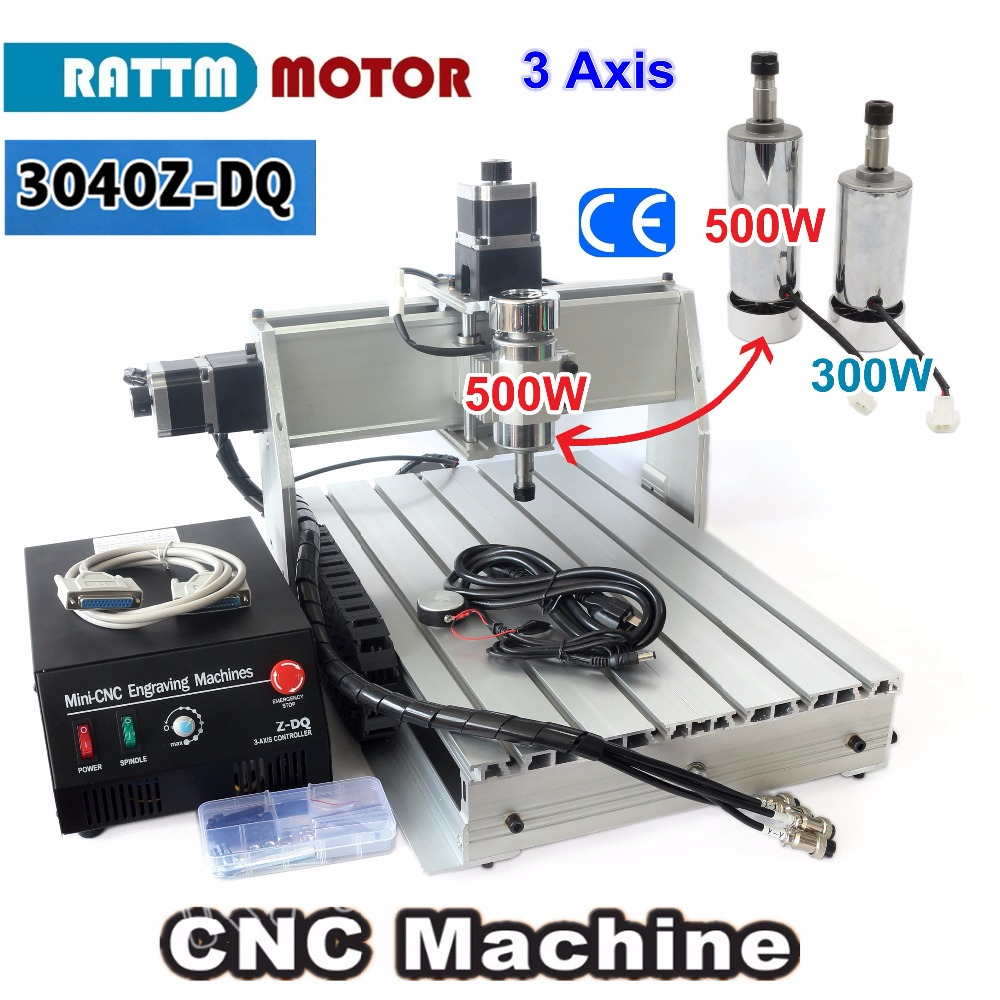 3 Axis 500W 3040Z-DQ CNC ROUTER ENGRAVER/ENGRAVING Milling Cutting DRILLING Machine Ballscrew 220V/110V wood cnc router 3040z dq mill frame aluminum table alloy engraving machine part