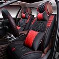 3D Estilo Tampa de Assento Do Carro Para Ford Edge Fuja Explorador Fiesta Foco Mondeo Ecosport Kuga Fusão, Alta-fibra couro, Carro-Cobre