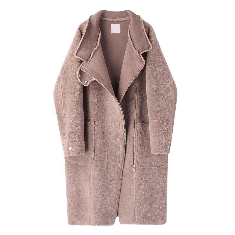 Manteau Sga42 Sauvage De Automne 2018 coréen Mode Et Section Longue Vêtements Nouvelle D'hiver Froid Cerise Hd3s q76a0