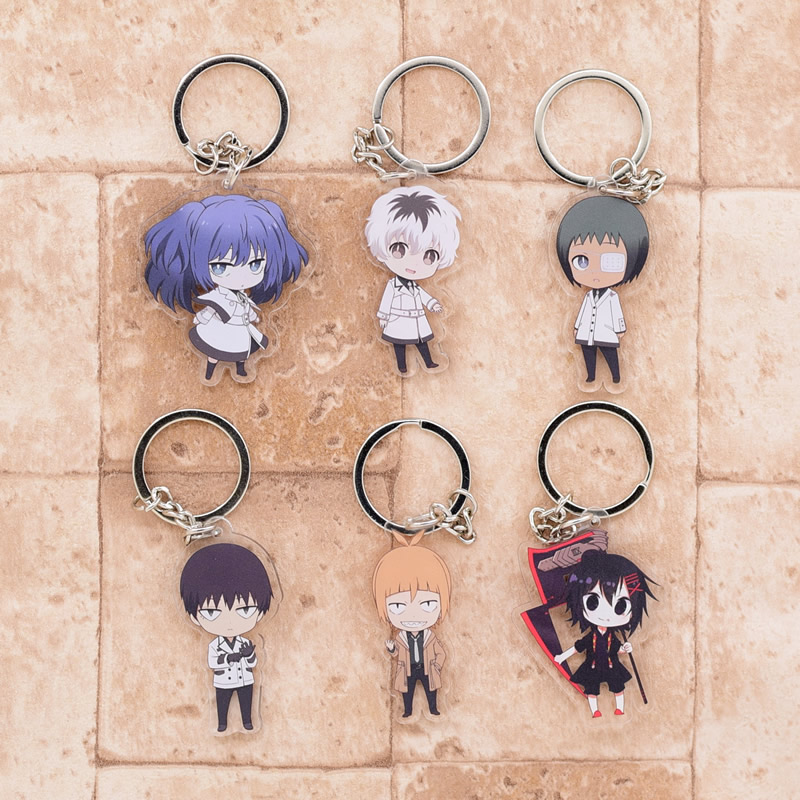 2018 Tokyo Ghoul RE Keychain QS Sasaki Haise Double Sided Acrylic Key Chain Pendant Anime Accessories Cartoon Key Ring DBS1P цены онлайн