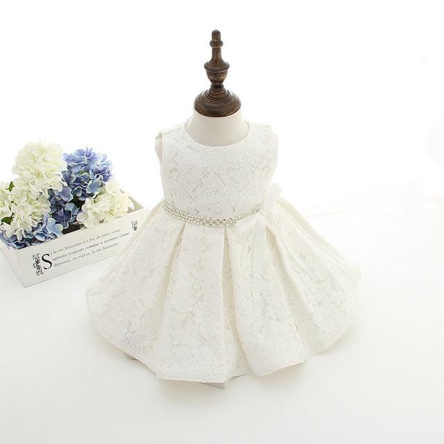 Newborn baby girl vestidos con tapa super back bow bebé cinturón diamand 1 año de cumpleaños dress vestidos de bautizo vestido infantil