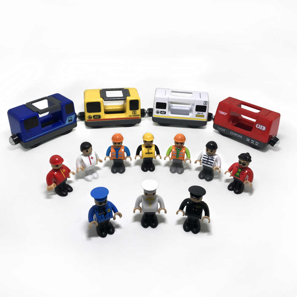 W2 Rlectric Car Harmonious Train Compartment Magnet Link Compatible Wood Track Compatible With All Type 1:64>3 Years Old