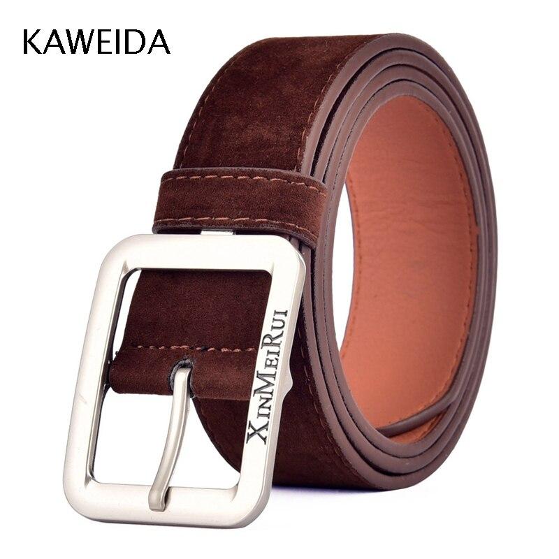 KWD 2018 Designer   Belts   Men High Quality Trending Men's Genuine Leather Vintage Pin Buckle   Belt   for Jeans Casual Kemer Riem