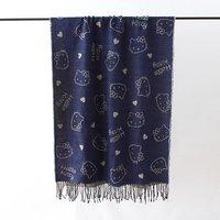 Frauen Hallo Kitty Schal Double Side Charakter Drucken Langer Schal-verpackungs-schal 200*70 cm 2 Farbe