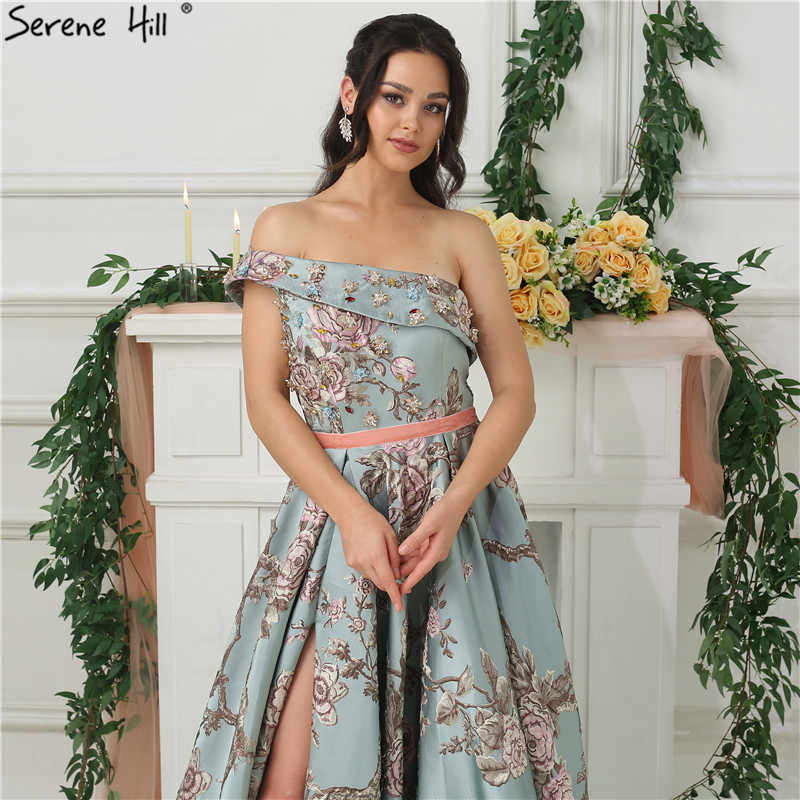 c9902401e7 ... New Sleeveless One-Shoulder Sexy Evening Dresses 2019 Diamond  Embroidery Fashion Luxury Formal Evening Gown ...