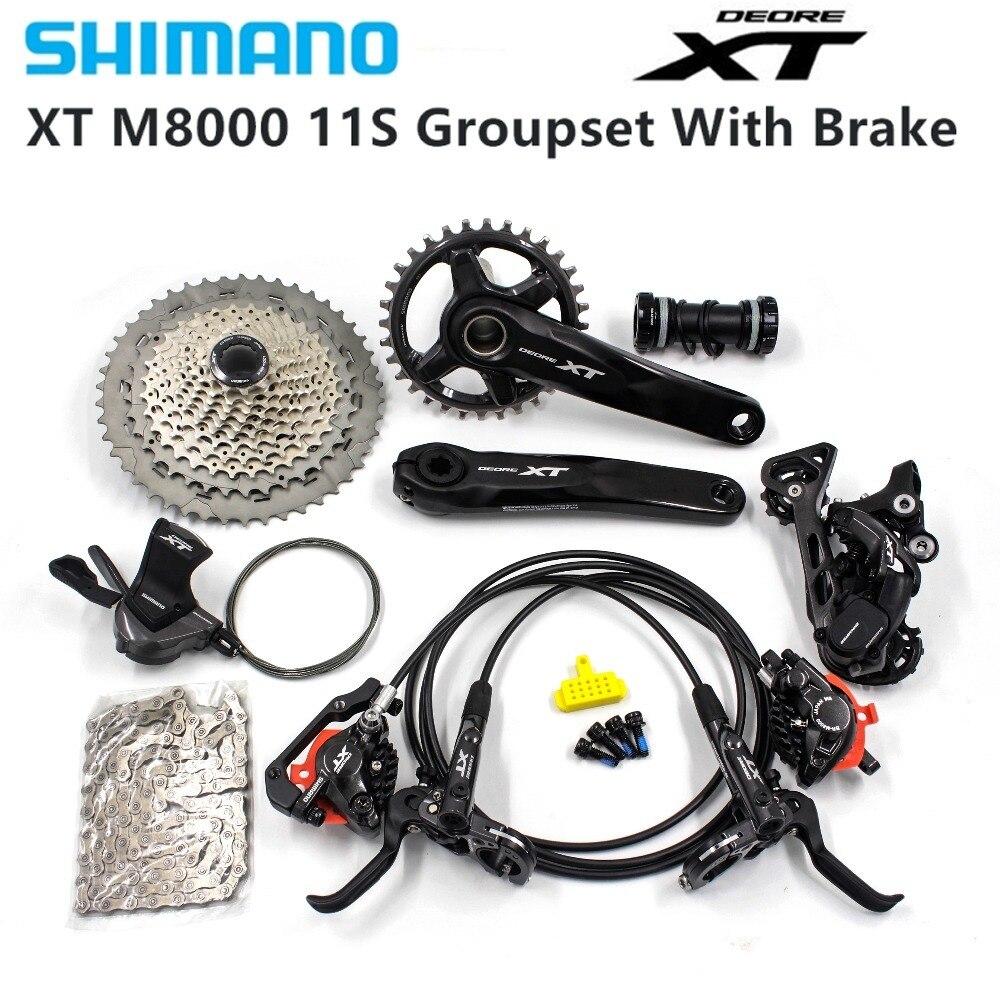 Groupe de pédales Shimano Deore Xt M8000 32T 34T 170 175 millimètres groupe vtt 1x11 vitesses 40T 42T 46T M8000 avec frein Xt