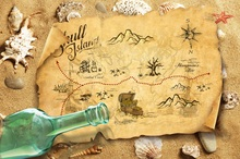hot deal buy laeacco photo backdrops tropical beach sand old treasure map shell coral bottle child photo backgrounds photocall photo studio
